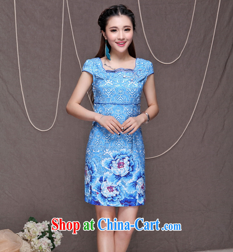 Up to 100 beautiful new female high-end ethnic wind and stylish Chinese qipao dress daily retro beauty graphics build cheongsam FF A - 033 - 9913 XL