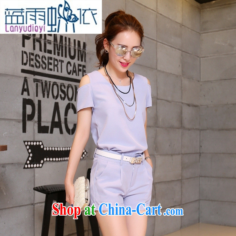 Ya-ting store 2015 summer of this year's most popular female clothes on the new, nice looking Korean summer summer style light purple XL